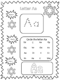 95 Winter themed Alphabet and Numbers No Prep Worksheets