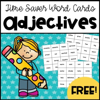 96 Adjective Time-Saver Word Cards