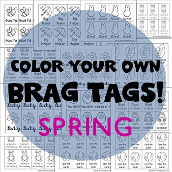208 Brag Tags for Spring and Easter in English