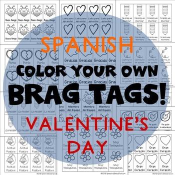 208 Brag Tags for Valentine's Day in Spanish