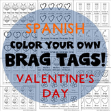 208 Brag Tags for Valentine's Day in Spanish