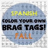 208 Brag Tags for Fall in Spanish