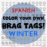 208 Brag Tags for Winter in Spanish