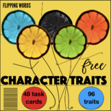 96 Character Traits  – 48 Reusable Task Cards – Textual Ev