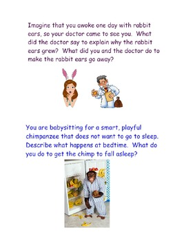 96 Creative Writing / Journal Prompts with Pictures for the SmartBoard
