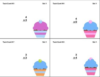 96 Math Task Cards for Third Grade CCSS.MATH.CONTENT.3.OA.C.7