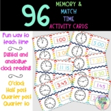 96 Memory/Match Time Activity Cards