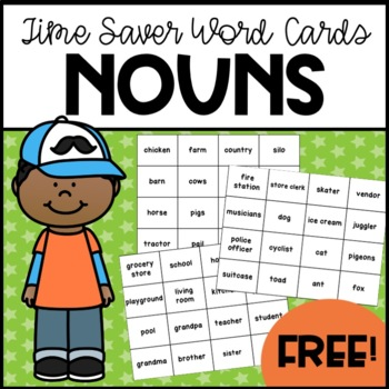 96 Nouns Time-Saver Word Cards