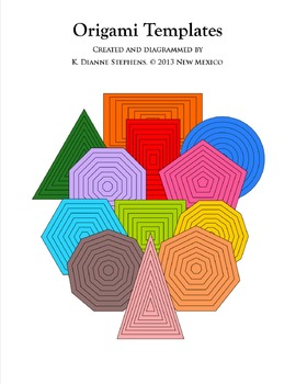 96 Origami Paper ShapeTemplates