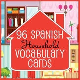 96 Spanish / English House Vocabulary Flash Cards