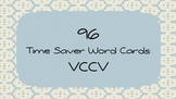 96 Time Saver Word Cards:  VCCV Syllable Division