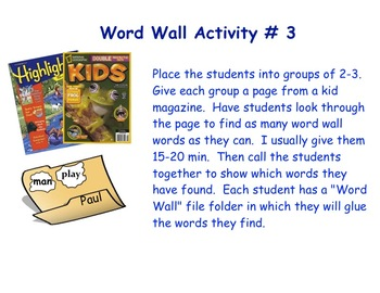 96 Word Wall Words with 5 Activity Ideas PDF