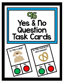 96 Yes and No Question Cards