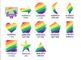97 Clip Art Shapes in the Rainbow Paint Palette for personal and commercial use