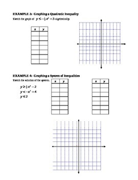 9.7 Graphing a Quadratic Inequality