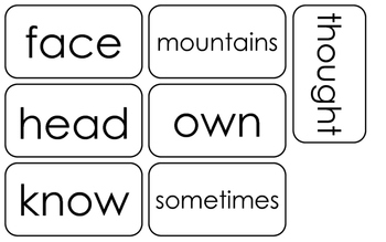 97 Printable 3rd Grade Fountas and Pinnell High Frequency Flashcards. Sight Word