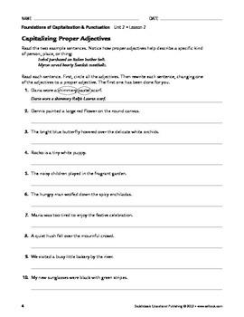 Capitalization Special Rules - Capitalization & Punctuation Unit 2 (Gr 9-12)