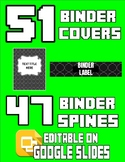 98 Binder Covers & Labels (Editable on Google Slides)