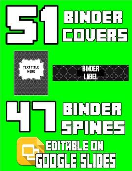 98 Binder Covers & Labels (Editable on Google Slides)