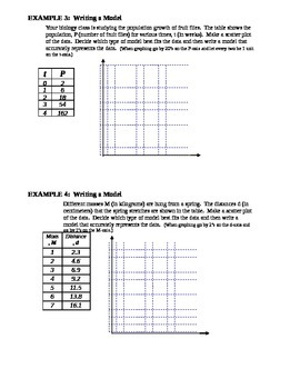 9.8 Comparing Linear, Exponential, and Quadratic Models
