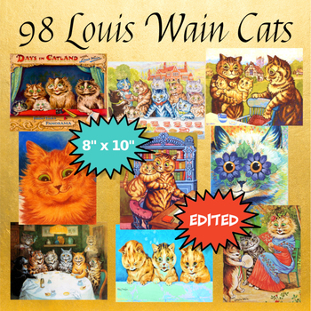 6660c23d8c1 98 LOUIS WAIN CATS  Printable Cat Wall Art