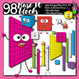 98 base ten blocks - clip art for teachers
