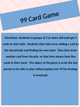 99 Card Game