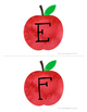99 Cents Deal Fall themed Red Apple Musical Alphabet Flashcards