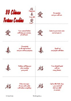 99 Chinese Fortune Cookies