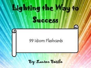 99 Idiom Flashcards or Memory Game - Figurative Language C