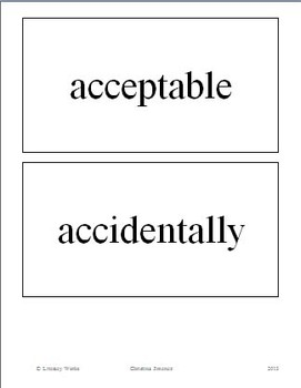 99 Most Commonly Misspelled Words - Placards for Your Secondary Classroom