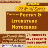 {99 Novel} American Poetry and Literary Terms & Concepts Vocabulary notecards