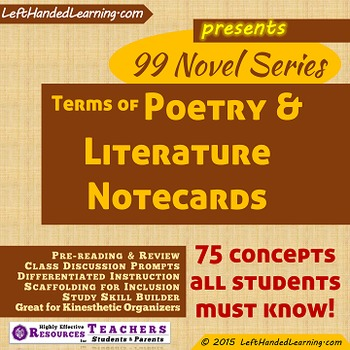 {99 Novel} American Poetry and Literary Terms & Concepts V