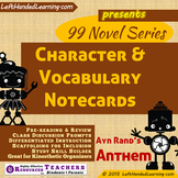 {99 Novel} Ayn Rand Anthem Character & Vocabulary notecards study aid