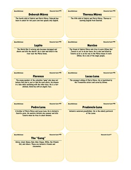 {99 Novel} Bless Me Ultima by Rudolfo Anaya Character & Vocabulary note cards