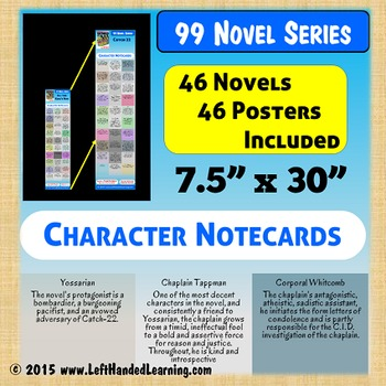 {99 Novel} Character Card Posters Printable for 46 Classics of Literature