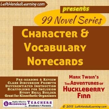 {99 Novel} Character & Vocabulary Mark Twain The Adventures of Huckleberry Finn