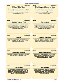 {99 Novel} Character & Vocabulary Notecards for Billy Budd by Herman Melville