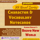 {99 Novel} Character & Vocabulary for Brave New World by Aldous Huxley