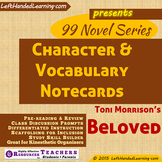 {99 Novel} Character & Vocabulary notecards for Beloved by Toni Morrison