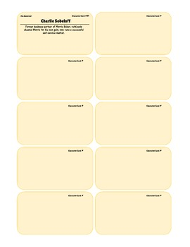 {99 Novel} The Assistant by Bernard Malamud Character & Vocabulary note cards