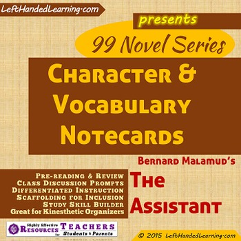 {99 Novel} The Assistant by Bernard Malamud Character & Vo