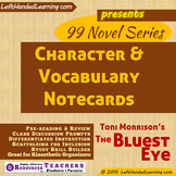 {99 Novel} The Bluest Eye by Toni Morrison Character & Vocabulary note cards