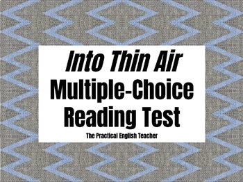99-Question Multiple-Choice Test for Into Thin Air