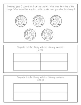 Word Problems for the Younger Learner {1st grade}