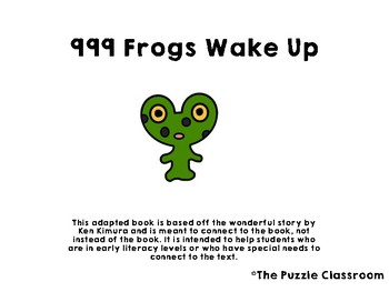 999 Frogs Wake Up Adapted Book
