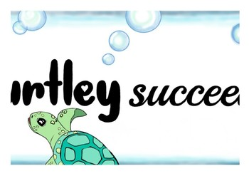 9D has the potential to Turtley Succeed! Banner - Growth Mindset - Punny Poster