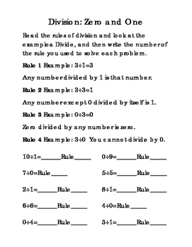 9pages Third Grade Division 0 1 2 3 4 5 6 7 8 9 Math Division