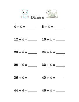 9pages Third Grade Division 0 1 2 3 4 5 6 7 8 9 Math Division by ...