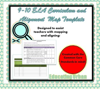 9th-10 Grade ELA Curriculum and Alignment Map Template